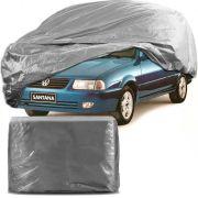 Capa Protetora para Cobrir Carro 100% Impermeável com Forro Central e Elástico Tamanho G Cinza Vw Santana