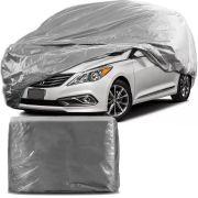 Capa Protetora para Cobrir Carro 100% Impermeável com Forro Central e Elástico Tamanho GG Cinza Hyundai Azera