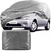 Capa Protetora para Cobrir Carro 100% Impermeável com Forro Central e Elástico Tamanho M Cinza Renault Logan
