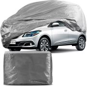 Capa Protetora para Cobrir Carro 100% Impermeável com Forro Central e Elástico Tamanho P Cinza Chevrolet Onix