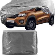 Capa Protetora para Cobrir Carro 100% Impermeável com Forro Central e Elástico Tamanho P Cinza Renault Kwid