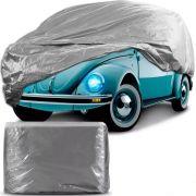 Capa Protetora para Cobrir Carro 100% Impermeável com Forro Central e Elástico Tamanho P Cinza Volkswagen Fusca
