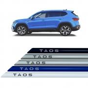 Friso Lateral na Cor Original Volkswagen Taos 2021 22 Em Diante