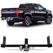 Engate Para Reboque Rabicho Chevrolet S10 S-10 Cabine Simples 2012 Até 2019 / Cabine Dupla 2012 até 2019 Tração 1000Kg InMetro