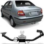 Engate Para Reboque Rabicho Fiat Siena 1997 Até 2010 Tração 400Kg InMetro