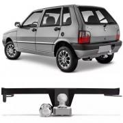 Engate Para Reboque Rabicho Fiat Uno Fire Way Economy 2004 Até 2012 Tração 400Kg InMetro
