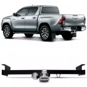 Engate Para Reboque Rabicho Toyota Hilux Cabine Dupla 2005 Até 2017 Cabine Simples 2009 Até 2017 Tração 400Kg InMetro