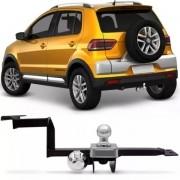Engate Para Reboque Rabicho Volkswagen Crossfox 2006 Até 2015 Tração 400Kg InMetro