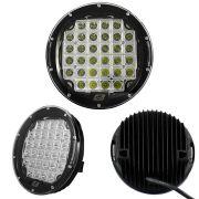 Farol de Milha LED Universal Trator Agrícola Caminhão 12/24V (96W) 32 LEDS 6000K Redondo 1 Peça