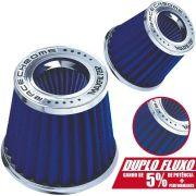 Filtro de Ar Esportivo Cônico Race Chrome Duplo Fluxo Master Filter Rc031