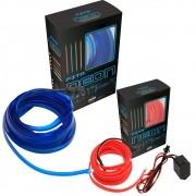 Fita com Filamento de Fibra Ótica com Efeito Neon Para Painel Automotivo Carro 3 Metros 12V