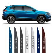 Friso Lateral Chevrolet Tracker 2020 21 Em Diante Com Nome Alto Relevo Cromado