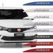 Friso Lateral Fiat Argo Com Nome Alto Relevo Cromado 2017 18 19