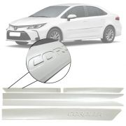 Friso Lateral na Cor Original Toyota Corolla 2020 21 Grafia em Baixo Relevo