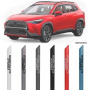 Friso Lateral na Cor Original Toyota Corolla Cross 2021 Em Diante