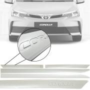 Friso Lateral na Cor Original Toyota Corolla 2015 16 17 18 19 Grafia em Baixo Relevo