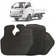 Jogo de Tapete Borracha Pvc Hyundai HR Preto Antiderrapante Impermeável
