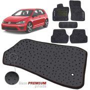 Jogo de Tapete Carpete Tevic Pinado Volkswagen Golf 2015 16 17 18 Impermeável Lavável Logo Bordado 5 Peças