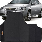 Jogo de Tapete Borracha Pvc Universal Chevrolet Astra 2003 04 05 06 07 08 09 10 11 12 Preto Bordado Carpete Antiderrapante Impermeável