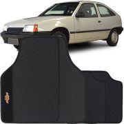Jogo de Tapete Borracha Pvc Universal Chevrolet Kadett 1989 90 91 92 93 94 95 Preto Bordado Carpete Antiderrapante Impermeável