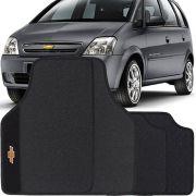 Jogo de Tapete Pvc Borracha Universal Chevrolet Meriva 2003 a 2011 Preto Bordado Carpete Antiderrapante Impermeável