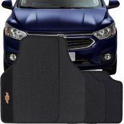 Jogo de Tapete Borracha Pvc Universal Chevrolet Onix 2012 13 14 15 16 17 18 19 Preto Bordado Carpete Antiderrapante Impermeável