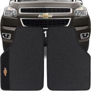 Jogo de Tapete Borracha Pvc Universal Chevrolet S-10 Cabine Simples 2012 13 14 15 16 17 18 19 Preto Bordado Carpete Antiderrapante Impermeável