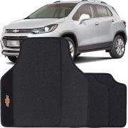 Jogo de Tapete Borracha Pvc Universal Chevrolet Tracker 2013 14 15 16 17 18 19 Preto Bordado Carpete Antiderrapante Impermeável