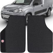 Jogo de Tapete Borracha Pvc Universal Fiat Fiorino 2014 15 16 17 18 19 Preto Bordado Carpete Antiderrapante Impermeável