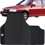 Jogo de Tapete Borracha Pvc Universal Fiat Tempra 2001 02 03 04 05 Preto Bordado Carpete Antiderrapante Impermeável