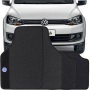 Jogo de Tapete Borracha Pvc Universal Impermeável Volkswagen Gol G5 G6 G7 2009 até 2017 Preto Bordado Carpete Antiderrapante Impermeável