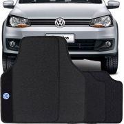Jogo de Tapete Borracha Pvc Universal Impermeável Volkswagen Saveiro Cabine Dupla 2015 16 17 18 19 Preto Bordado Carpete Antiderrapante Impermeável