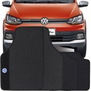 Jogo de Tapete Borracha Pvc Universal Volkswagen CrossFox 2015 16 17 18 19 Preto Bordado Carpete Antiderrapante Impermeável