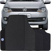 Jogo de Tapete Borracha Pvc Universal Volkswagen SpaceFox 2004 a 2013 Preto Bordado Carpete Antiderrapante Impermeável
