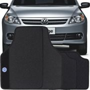 Jogo de Tapete Borracha Pvc Universal Volkswagen Voyage 2009 10 11 12 13 14 15 16 17 Preto Bordado Carpete Antiderrapante Impermeável