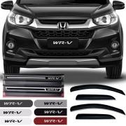 Kit Honda Wrv 2017 18 19 Calha de Chuva Esportiva Soleira Resinada Premium E Friso Lateral na Cor Original
