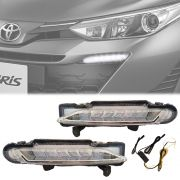 Kit Day Light Luz Diurna Toyota Yaris Hatch Sedan 2018 19 Com Seta