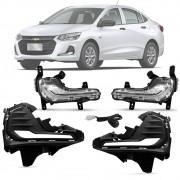 Kit DRL DayLight Luz Diurna Chevrolet Onix / Onix Plus 2020 21 Em Diante Com Seta