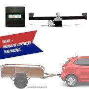 Kit Engate Rabicho de Reboque com Módulo de Iluminação de Reboque Para Carretinhas Fiat Argo 2017 18 19 CONNECT 1 Z