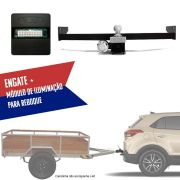 Kit Engate Rabicho de Reboque com Módulo de Iluminação de Reboque Para Carretinhas Hyundai Creta 2017 18 19 Connect 1A