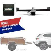Kit Engate Rabicho de Reboque com Módulo de Iluminação de Reboque Para Carretinhas Jeep Compass 2017 18 19