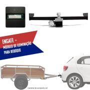 Kit Engate Rabicho de Reboque com Módulo de Iluminação de Reboque Para Carretinhas Volkswagen Gol 2013 14 15 16 17 18 19