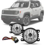 Kit Farol de Milha Com Módulo Jeep Renegade 2015 16 17 18 19 20