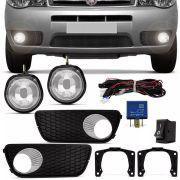 Kit Farol de Milha Completo Fiat Palio G3 2004 a 2016 Weekend Fiat Siena Strada G3 2004 a 2012 Auxiliar Neblina