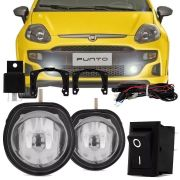 Kit Farol de Milha Completo Fiat Punto 2012 13 14 15 16 17 Auxiliar Neblina