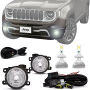 Kit Farol de Milha Completo Jeep Renegade 2019 20 com Ultra Led H11
