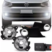 Kit Farol de Milha Completo Volkswagen Fox 2011 12 13 14 15 Auxiliar Neblina