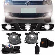 Kit Farol de Milha Completo Volkswagen Polo Sedan Hatch 2012 13 14 16 Auxiliar Neblina