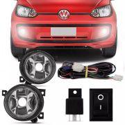 Kit Farol de Milha Completo Volkswagen Up 2015 16 17 18 19 Auxiliar Neblina