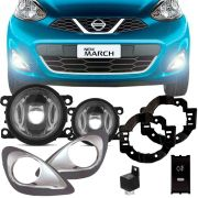 Kit Farol de Milha Completo Nissan New March 2015 16 17 18